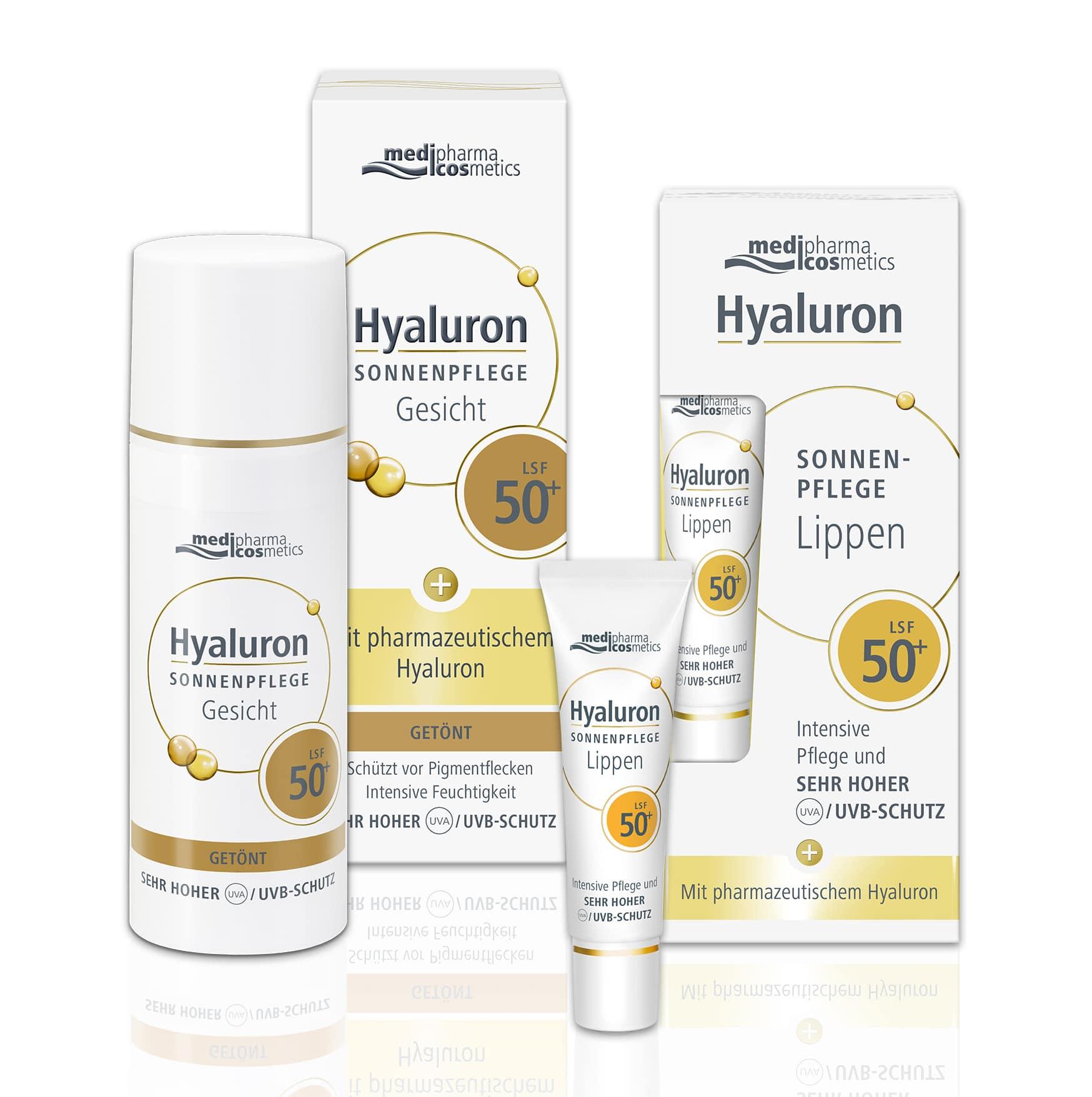 © medipharma cosmetics Hyaluron getönte Sonnenpflege Gesicht und Lippenpflege LSF 50