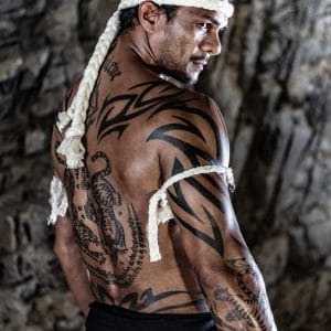 © IATITAI Bamboo Black Men's Line - Kampagnenmodel & Muay Thai-Kämpfer Muner Jihan