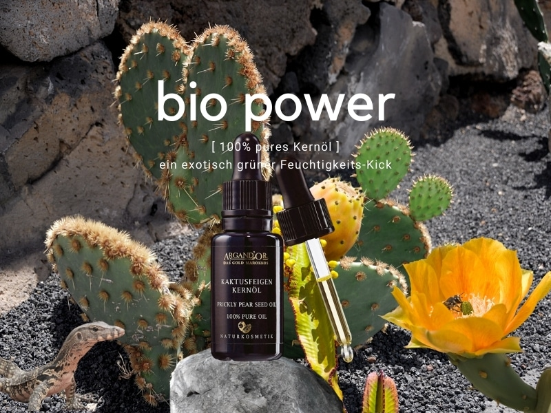 © ARGAND'OR Cosmetic Kaktusfeigenkernöl - natürlicher nativer Hydro-Booster aus Marokko