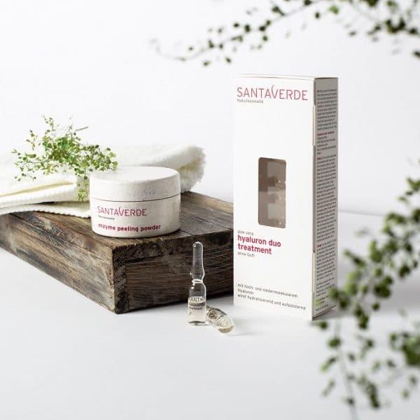 © SANTAVERDE Naturkosmetik Enzyme Peeling Powder & Hyaluron Duo Treatment