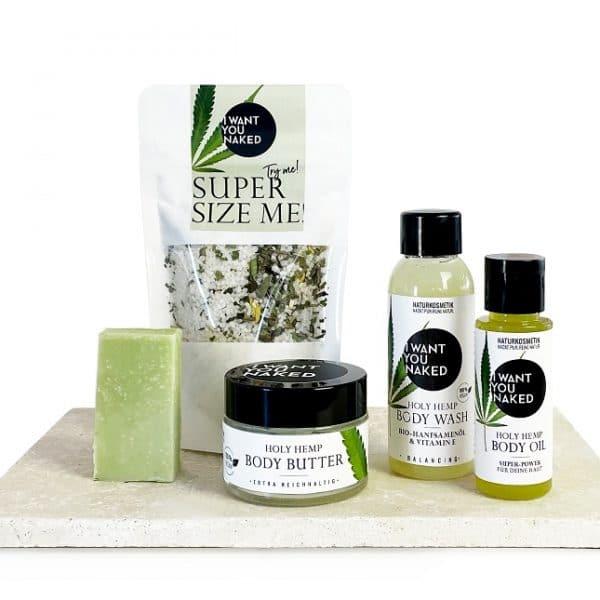 © I WANT YOU NAKED High 5 Beauty Box mit Holy Hemp-Travelgrößen