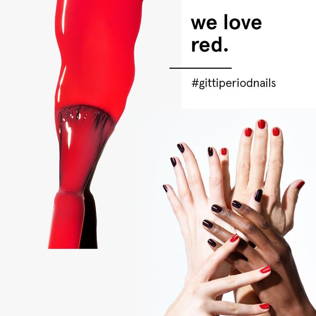 © gitti conscious beauty #gittiperiodnails - flamboyantes enttabuisierendes Nagel-Statement