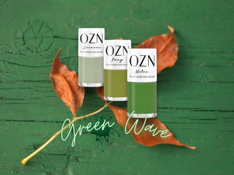 OZN Green Wave Organic Nail Collection