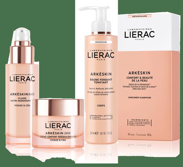 © Laboratoires LIERAC Arkéskin mit 24h Clock-Peptiden gegen die hormonelle Hautalterung