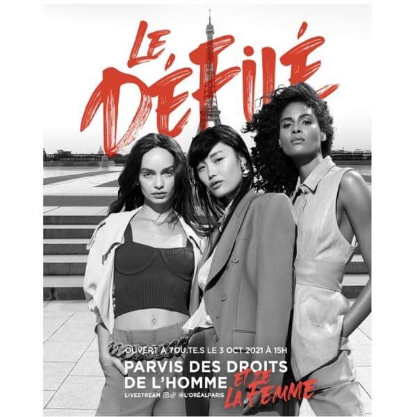 """© L'Oréal Paris Runway-Comeback """"Le Défilé"""" bei der Paris Fashion Week 2021"""