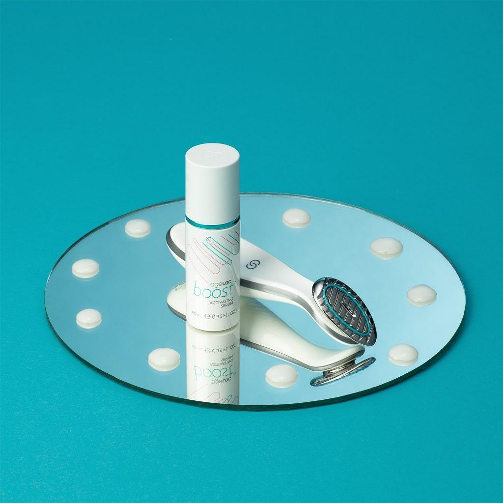 © Nu Skin ageLOC Boost System mit Mikrostromgerät und Leitmedium Activating Serum